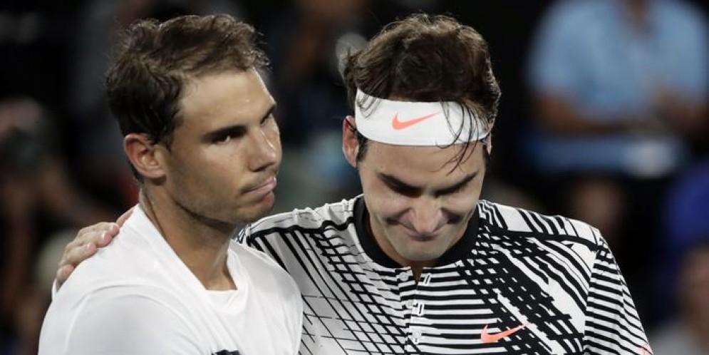Rafa Nadal e Roger Federer
