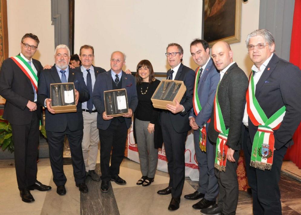 Debora Serracchiani (Presidente Regione Friuli Venezia Giulia) al trentennale dell'Associazione Nazionale Città del Vino, nella Sala della Protomoteca in Campidoglio