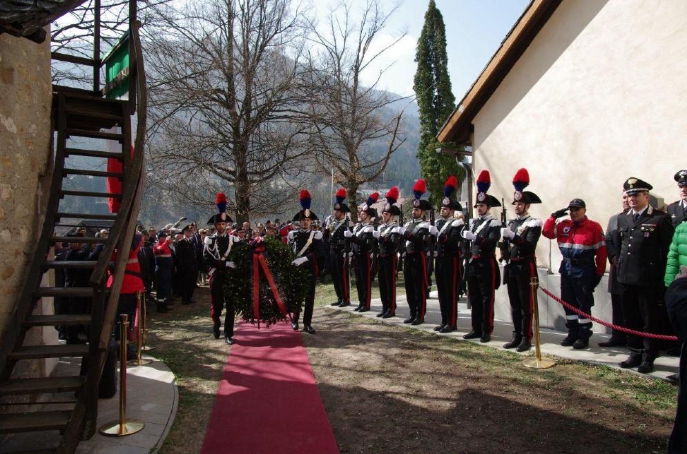 La cerimonia di Tarvisio (© Carabinieri)