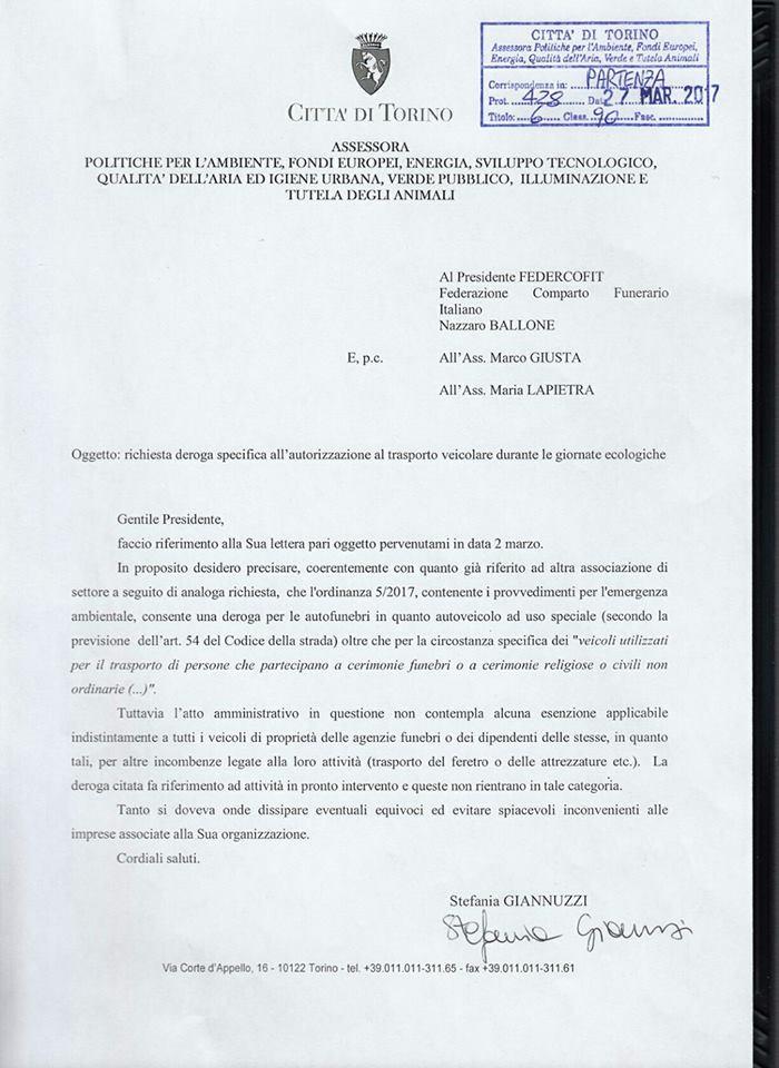 Risposta dell'assessore Giannuzzi