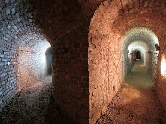 Uno dei cuniculi sotterranei del Museo Pietro Micca
