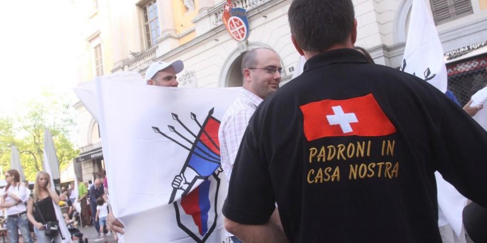 Lo slogan della Lega dei Ticinesi, prima sostenitrice della misura.