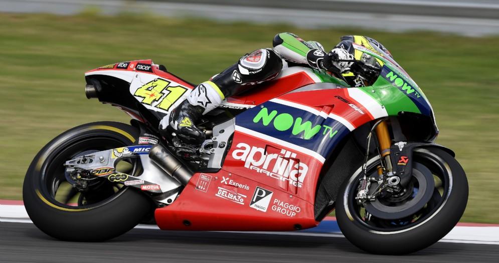 Aleix Espargaro in azione con la RS-GP nelle prove libere in Argentina