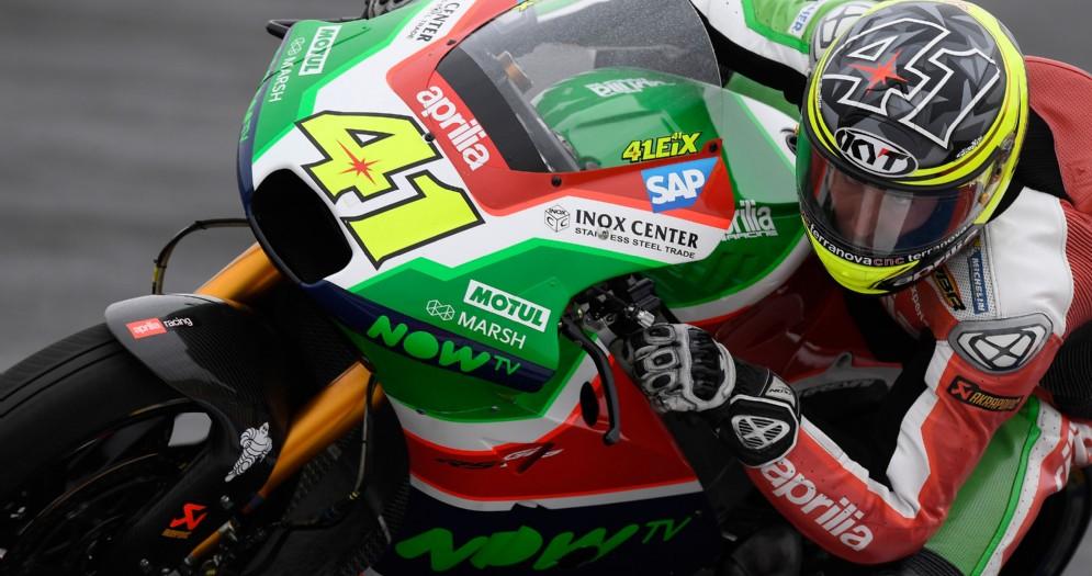 Aleix Espargaro in azione con la RS-GP nelle qualifiche in Argentina
