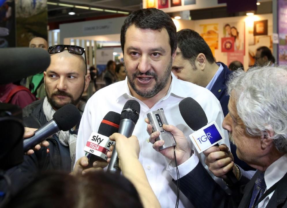 Il segretario uscente della Lega Nord, Matteo Salvini
