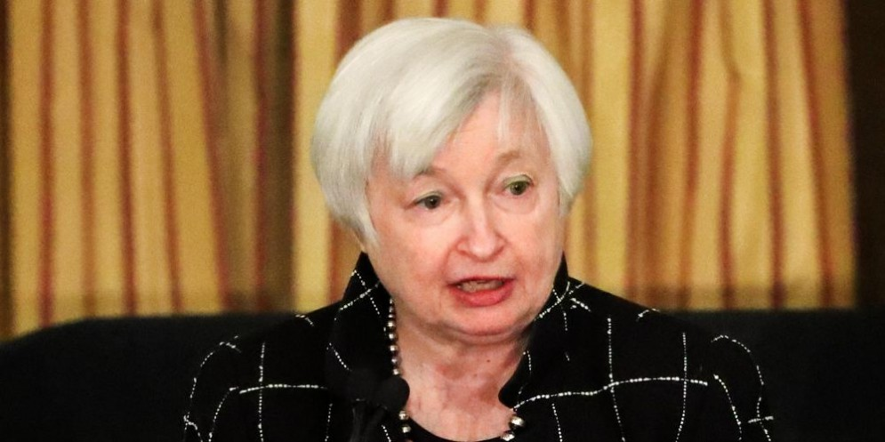 La presidente della Federal Reserve, Janet Yellen.
