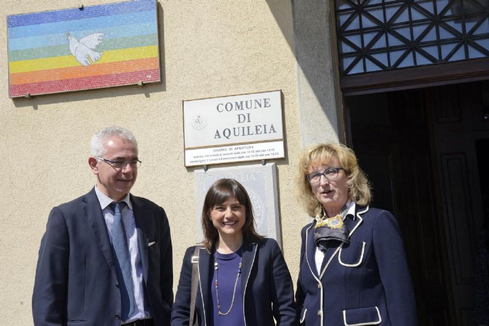 Enti locali: Aquileia, Serracchiani incontra il sindaco e il vicesindaco