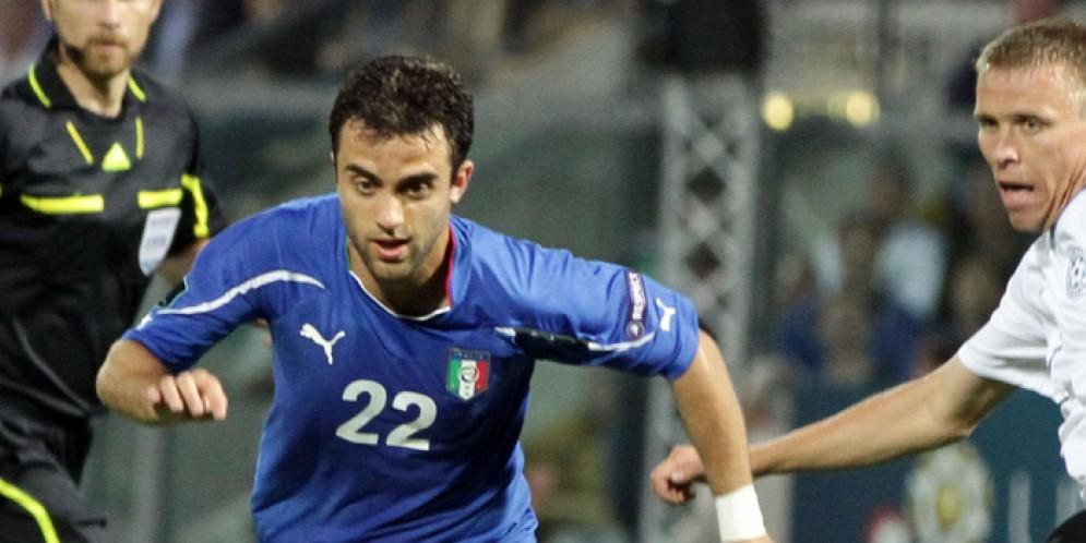 Giuseppe Rossi con la maglia della nazionale