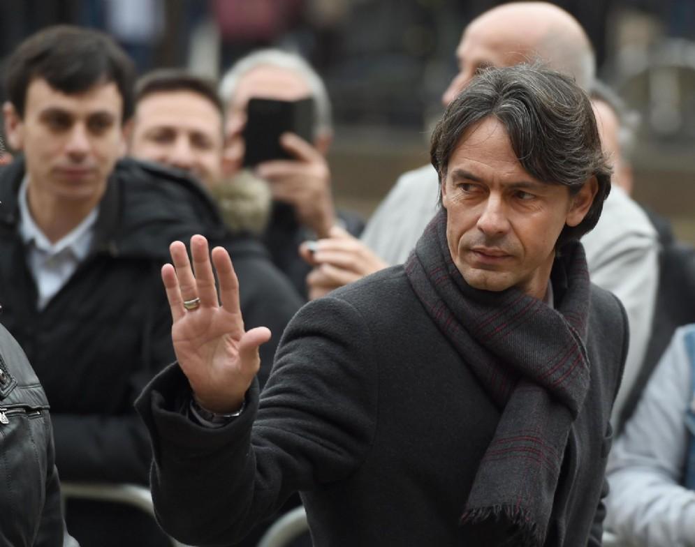 Filippo Inzaghi, ex allenatore del Milan, oggi alla guida del Venezia