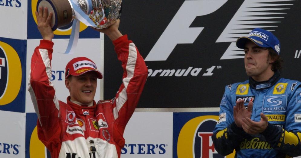 Michael Schumacher e Fernando Alonso