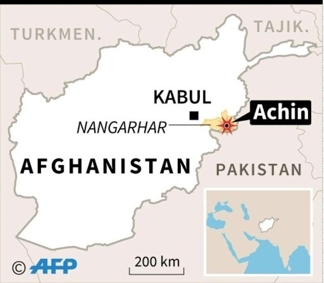 Il distretto di Achin, provincia afgana di Nangarhar, vicino al confine con il Pakistan, in cui è stata sganciata la bomba Usa