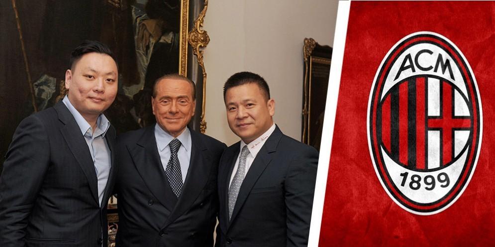 Silvio Berlusconi con Yonghong Li e Han Li