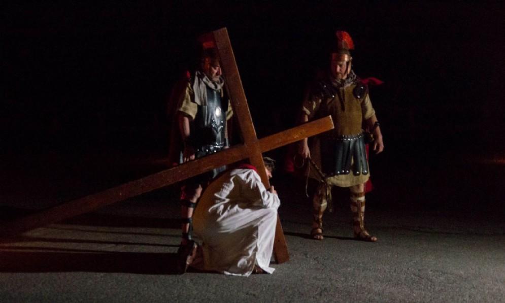 La via Crucis a Vinaio