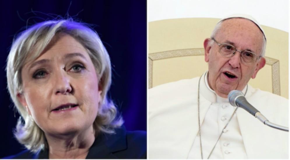 Marine Le Pen contro Papa Francesco
