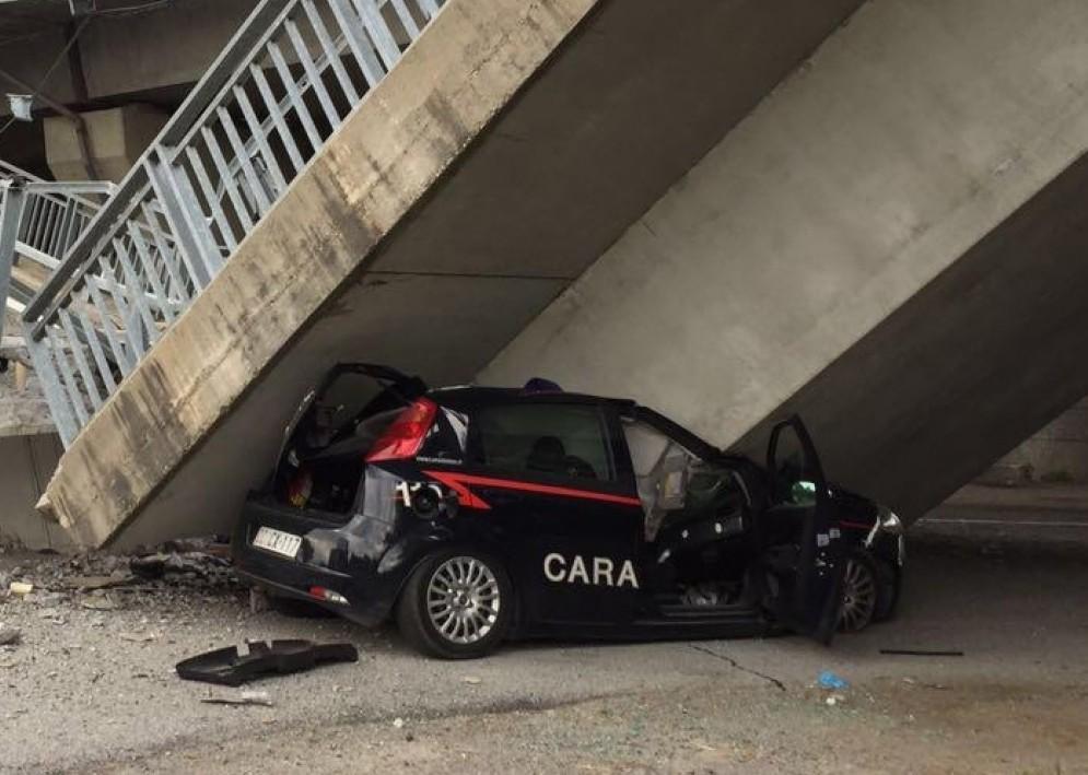 Crollo del ponte a Fossano (© ANSA)