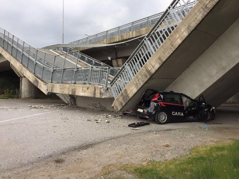Crollo del ponte a Fossano