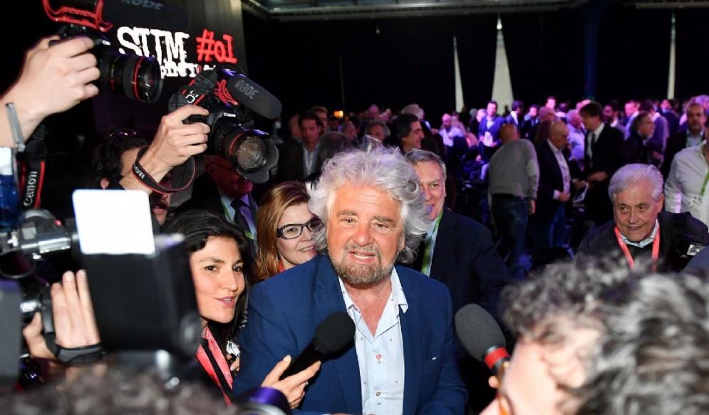 Il leader del Movimento 5 stelle, Beppe Grillo