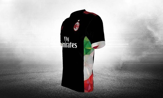 Una delle migliori terze maglie disegnate dai tifosi del Milan per il concorso Adidas