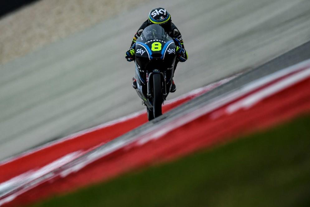 Niccolò Bulega in azione nelle qualifiche del GP delle Americhe