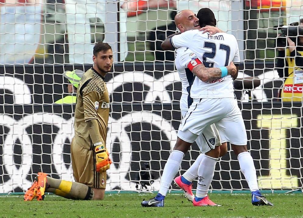 Il secondo gol dell'Empoli con Thiam
