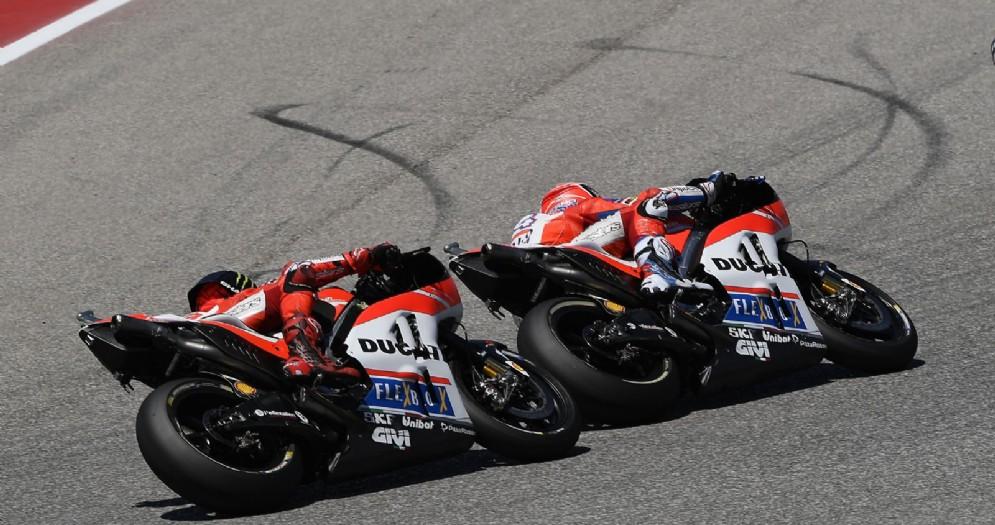 Jorge Lorenzo dietro ad Andrea Dovizioso ad Austin