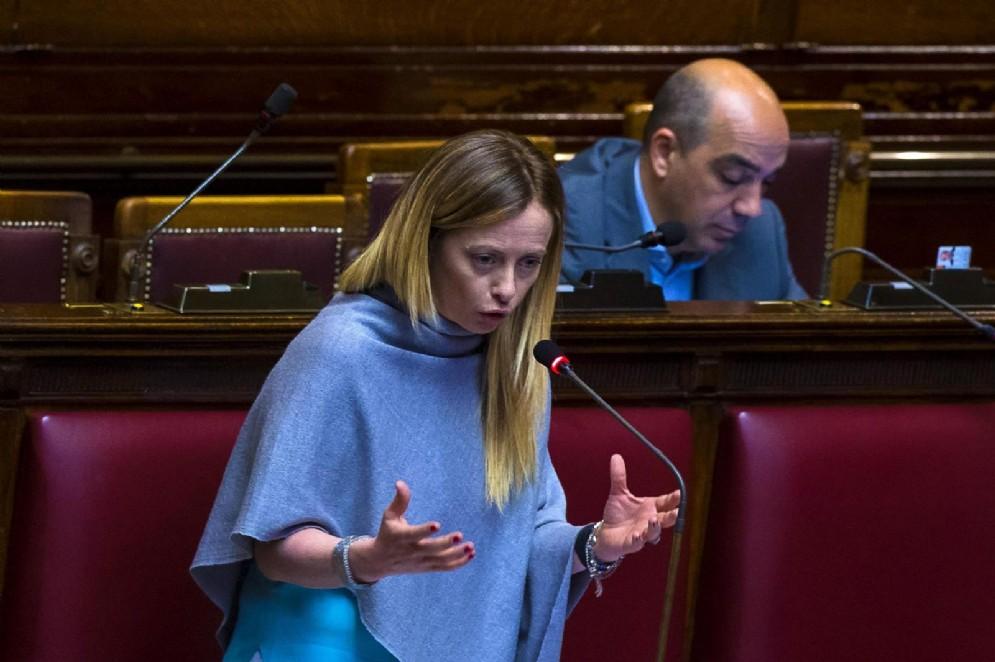 Il presidente di Fratelli d'Italia Giorgia Meloni