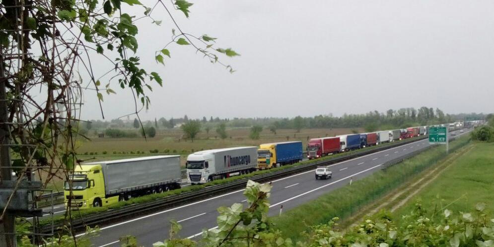 Giornata di passione sulle autostrade del Fvg (© G.G.)