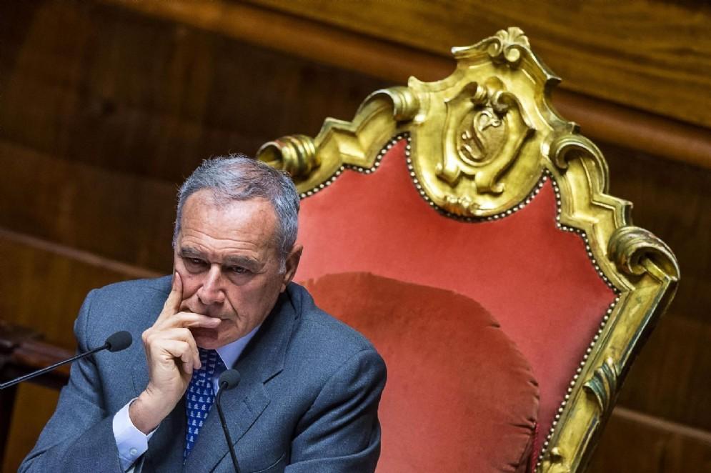 Il presidente del Senato, Pietro Grasso