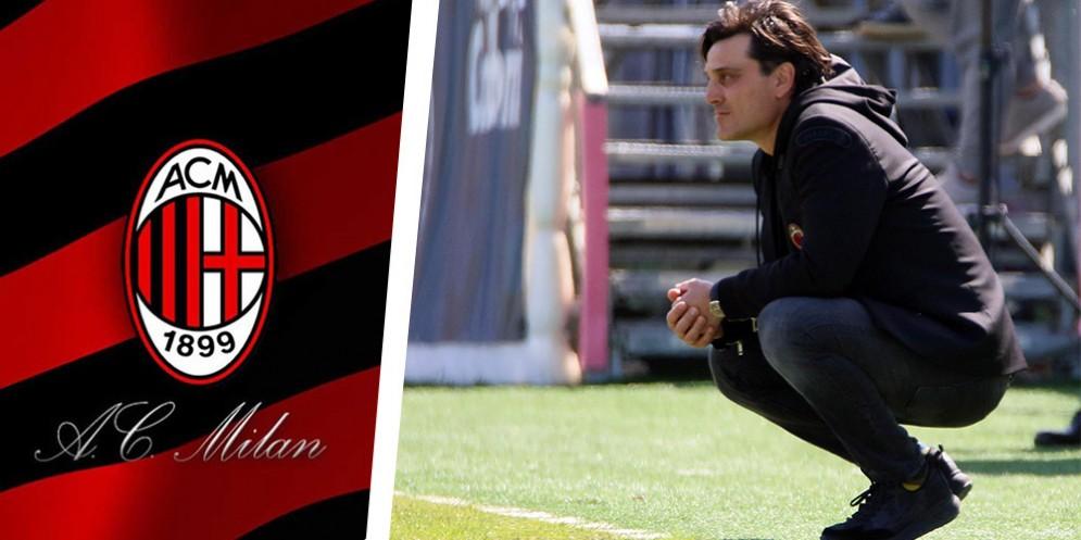 L'allenatore del Milan Montella