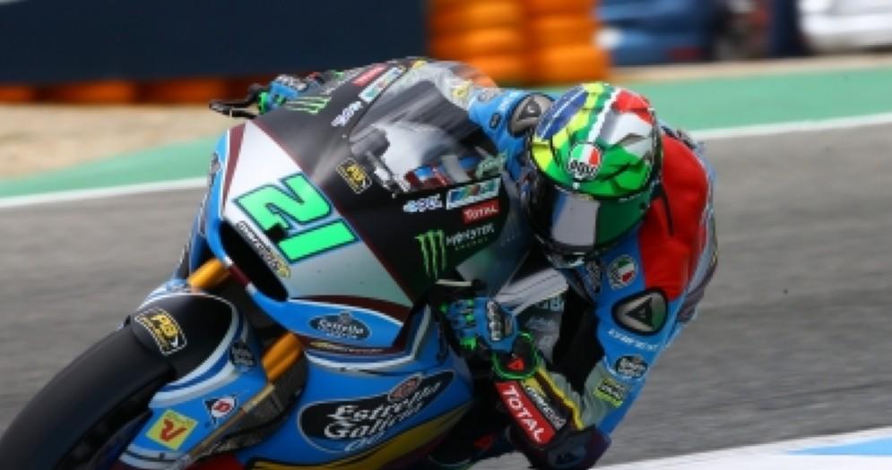 Franco Morbidelli in azione nelle prove libere a Jerez