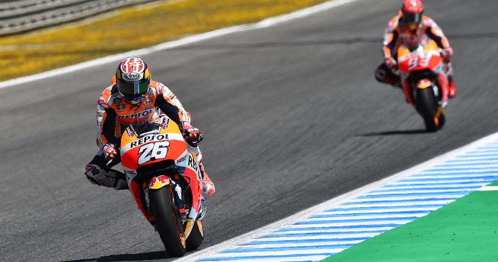 Le due Honda di Dani Pedrosa e Marc Marquez in azione a Jerez