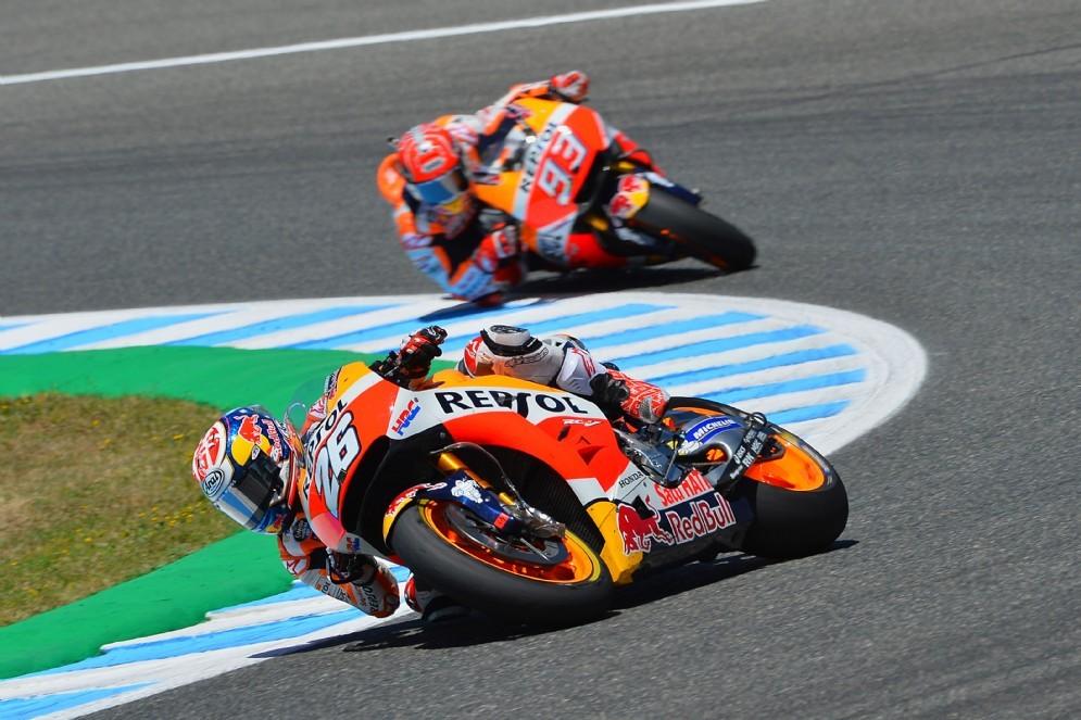 Pedrosa davanti a Marc Marquez oggi in gara