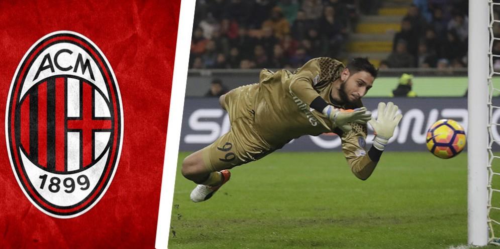Il fenomenale portiere del Milan Gigio Donnarumma