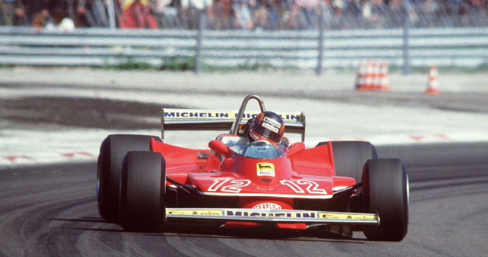 Gilles Villeneuve in azione