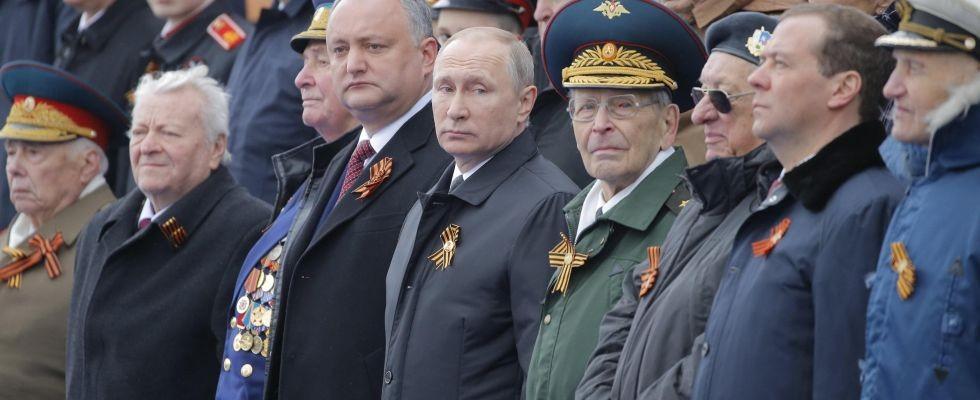 Il presidente russo Vladimir Putin alla Parata.