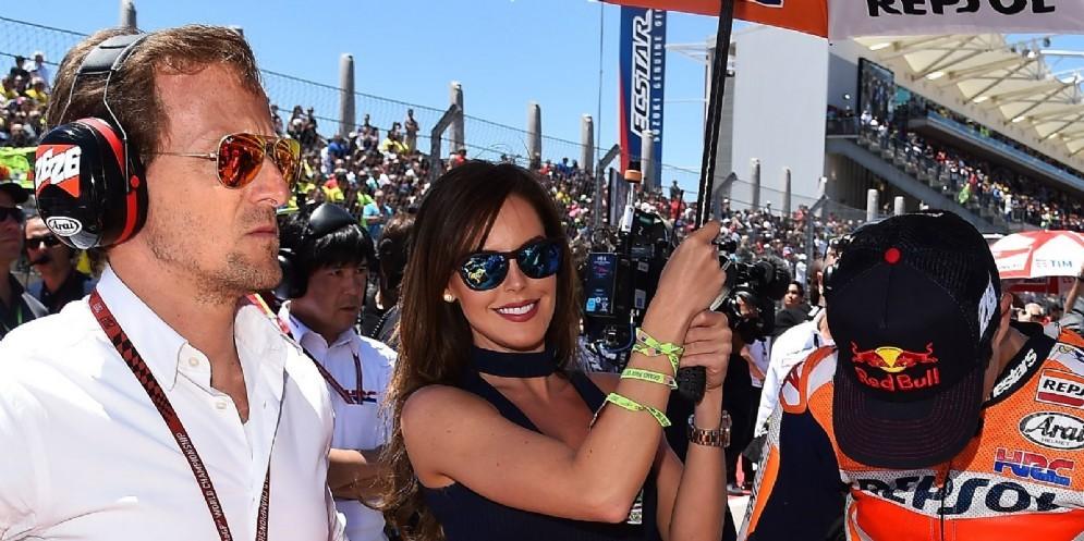 Sete Gibernau con Dani Pedrosa sulla griglia di partenza