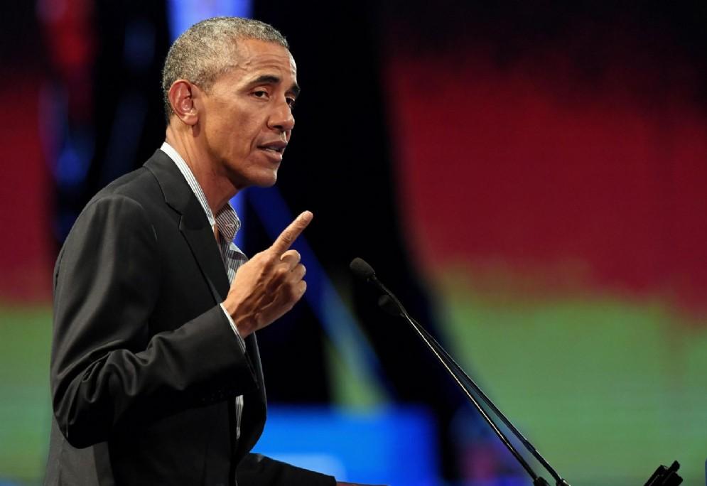 Barack Obama a Milano per l'evento Seeds and Chips (© ANSA/ DANIEL DAL ZENNARO)