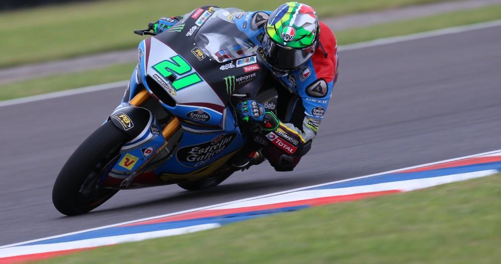 Franco Morbidelli in azione in Moto2