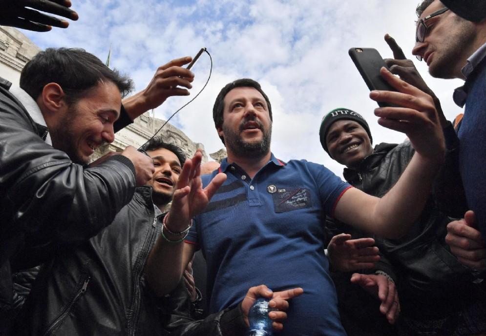 Il segretario della Lega nord, Matteo Salvini