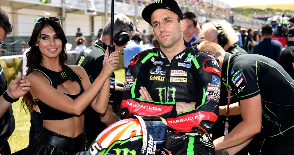 Johann Zarco sulla griglia di partenza del GP di Spagna