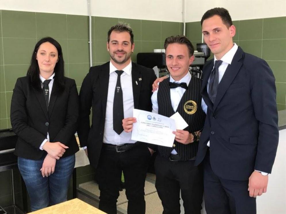 Allievo del Flora di Pordenone premiato al concorso nazionale per Alberghieri l'Arte del Cappuccino