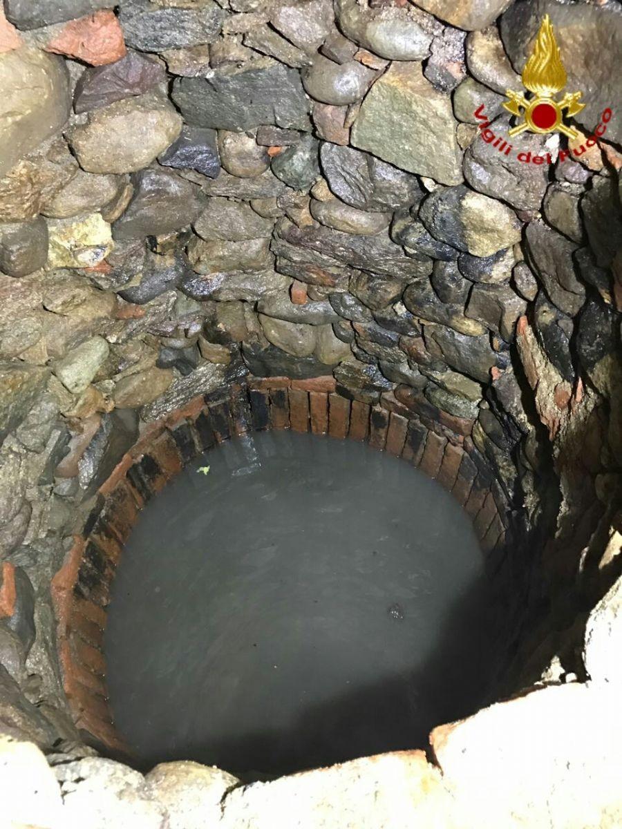 Il pozzo dove l'uomo ha tentato il suicidio