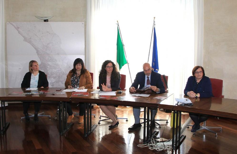 """Un momento della presentazione dell'iniziativa """"VisitiAMO il Municipio"""""""