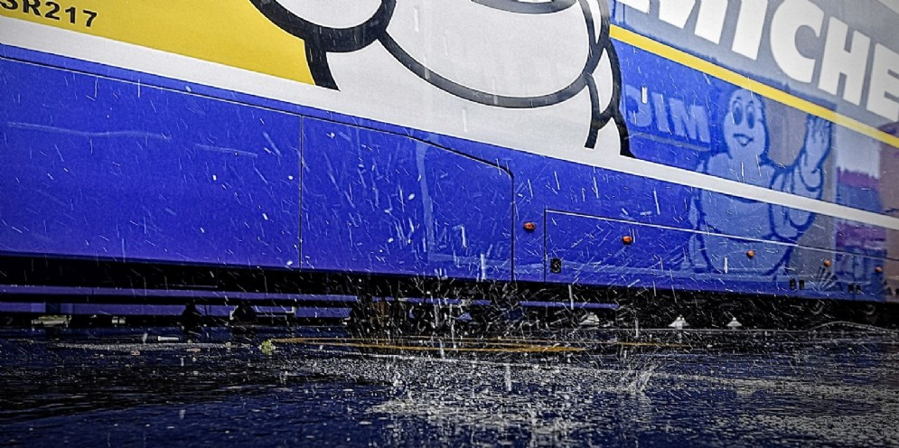L'asfalto bagnato di Le Mans