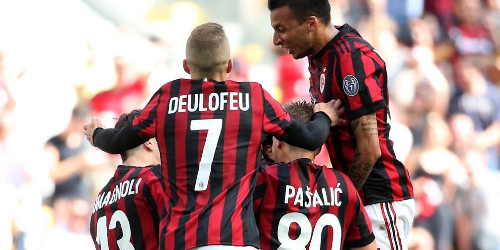 Il Milan festeggia l'ingresso in Europa dopo tre anni