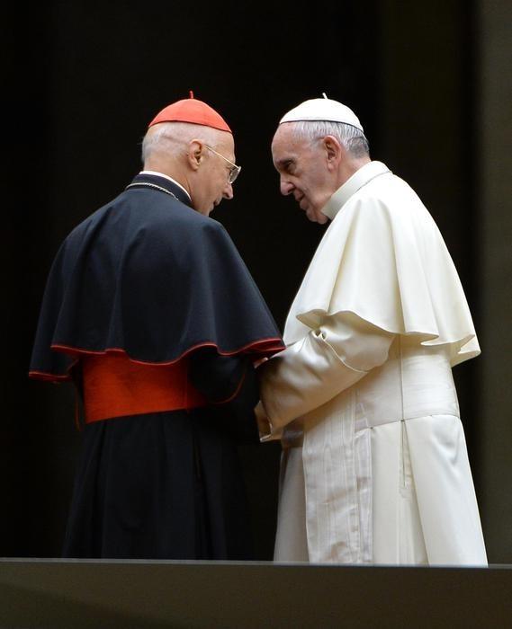 Il Cardinale Angelo Bagnasco con Papa Francesco