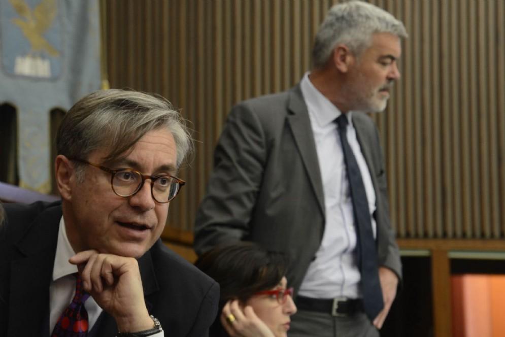 Francesco Peroni (Assessore regionale Finanze, Patrimonio, Coordinamento e Programmazione Politiche economiche e comunitarie) nell'Aula del Consiglio regionale del FVG