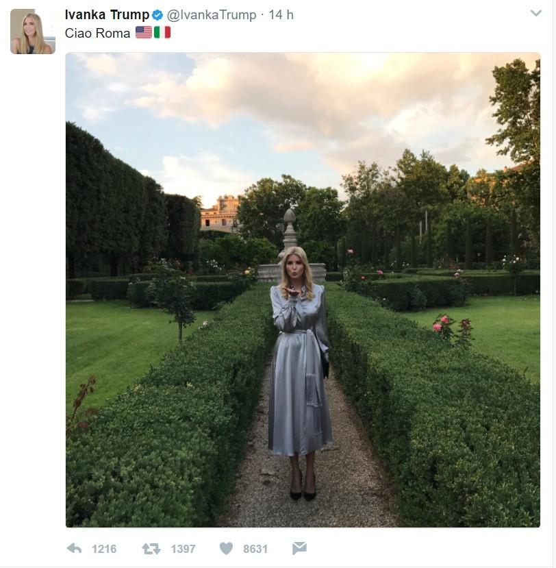 Il tweet di Ivanka Trump