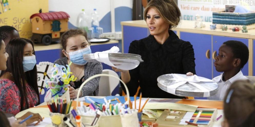 La First Lady in visita all'ospedale pediatrico Bambin Gesù
