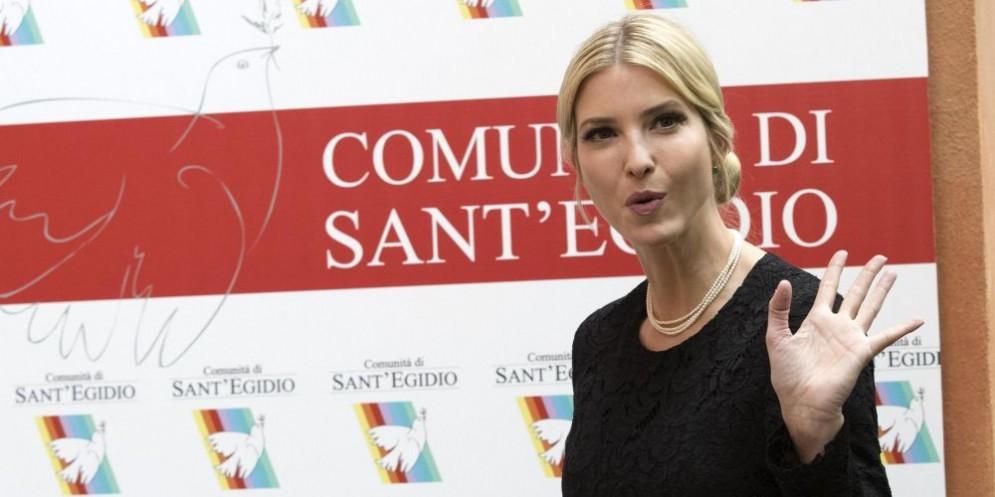 Ivanka Trump presso alla Comunità di Sant'Egidio